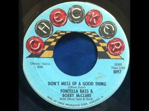 Fontella Bass and Bobby McClure - Don't Mess Up A Good