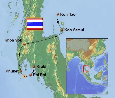 Reise Route in Thailand - Weltreise Route vom Backpacker Trip