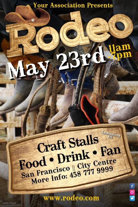Rodeo Poster Template | PosterMyWall