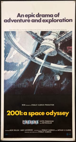 2001 A Space Odyssey Vintage Movie Poster | 3 Sheet (41x81