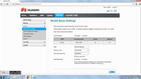 How to Change wifi networks names and passwords Huawei