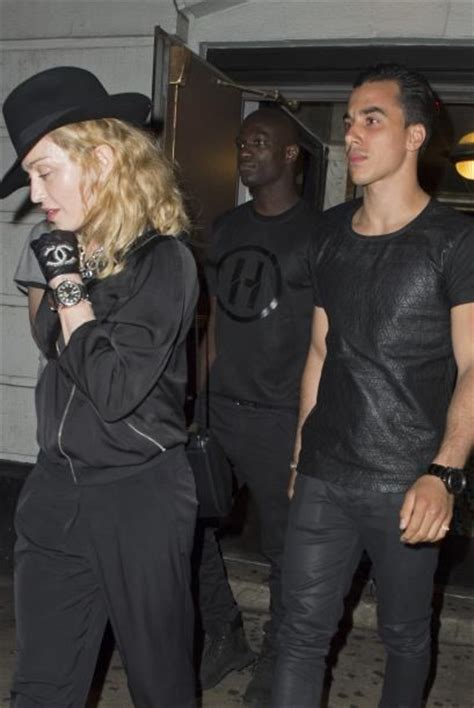 """Madonna attends """"Holler If Ya Hear Me"""" on Broadway with"""
