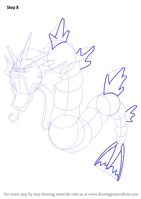 Learn How to Draw Gyarados from Pokemon (Pokemon) Step by