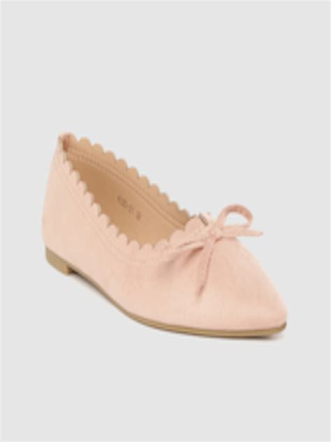 Buy Lavie Women Pink Solid Bow Detail Ballerinas - Flats