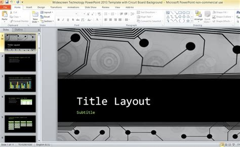 Widescreen Technology PowerPoint 2013 Template With