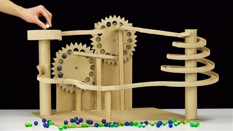 DIY Endless Marble Machine with Twisted Race Track - YouTube