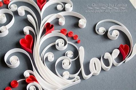 Quilling wall art Paper quilling art Love tree Quilling