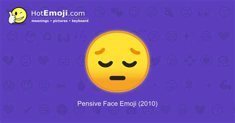 Pensive Face Emoji Meaning with Pictures: from A to Z
