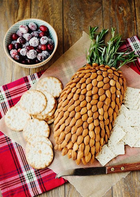 Cheese and almonds that looks like a pineapple! Better
