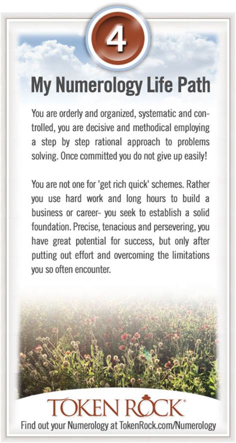 Life Path 4 | Numerology Information at TokenRock