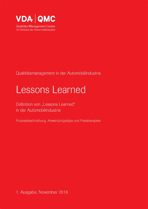 Lessons Learned - Definition-Verband der