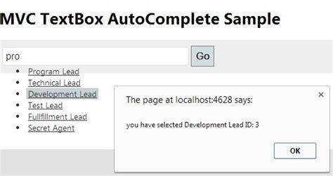 AutoComplete Textbox in MVC Using jQuery and WebAPI