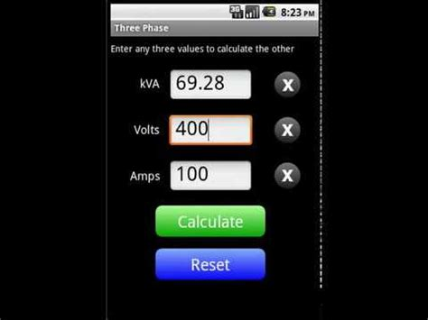 kVA Calculator App for Android - YouTube