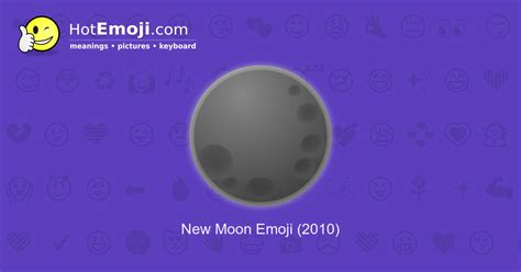 New Moon Emoji Meaning with Pictures: from A to Z
