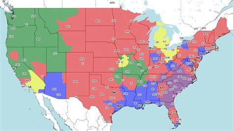 NFL Week 1 Broadcast Map (UPDATED) - Turf Show Times
